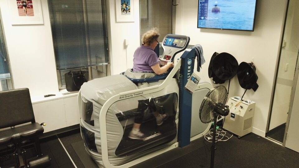 Anti-Gravity Treadmill at Melbourne CBD Physiotherapy